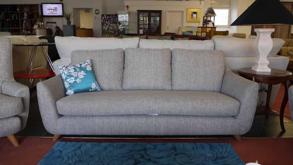 Ex Display Vintage 1960s Style Grey Fabric 3 Seater Sofa Retro Sixty Seven Retro Sofa Retro Furniture Sofas And Chairs