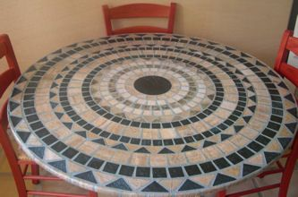 Beautiful Fitted Plastic Table Cloths Mosaicos Plasticos Mesas