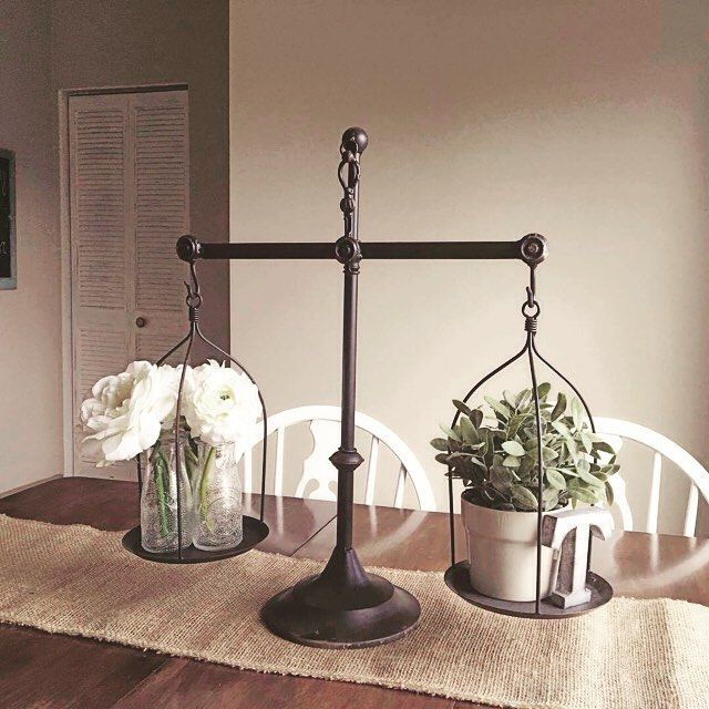 Pin By Michelle Schank On Home Decorating: Another Stylish Depiction Of Our Balance Scales In Action
