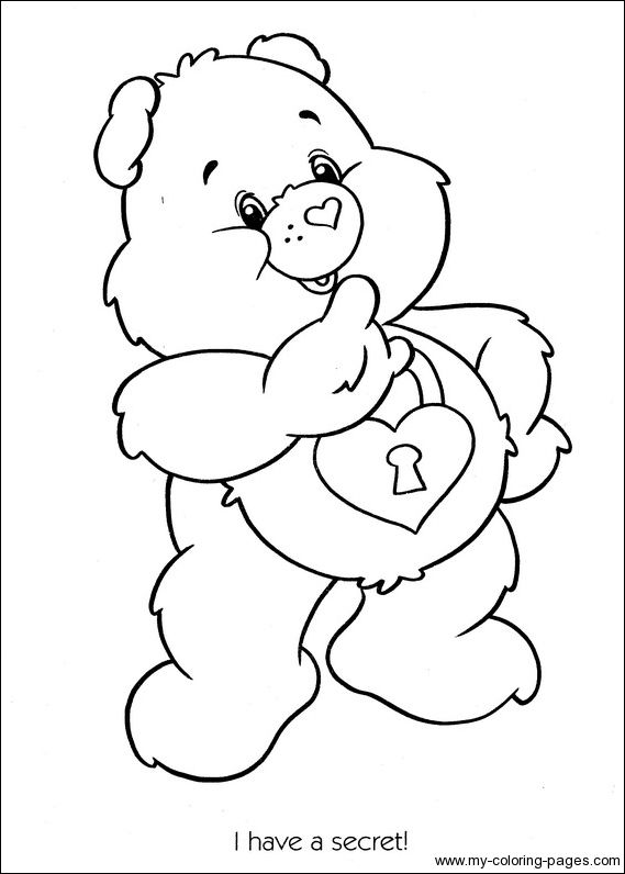 secret bear coloring pages care bears | Care Bears Coloring-115 | Coloriage bisounours | Coloriage ...