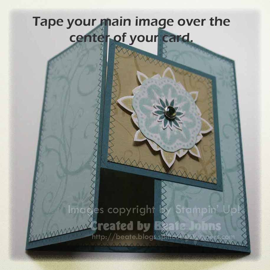gate fold card tutorial stampin up stampin up by lilann taylor
