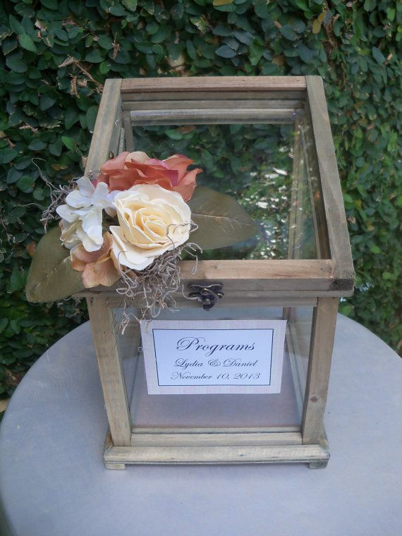 wedding card box cardholder rustic wedding wooden box greenhouse glass box
