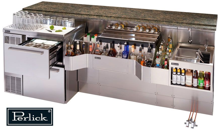 High volume cocktail bar well setup perlick 39 s tobin for Equipement bar restaurant