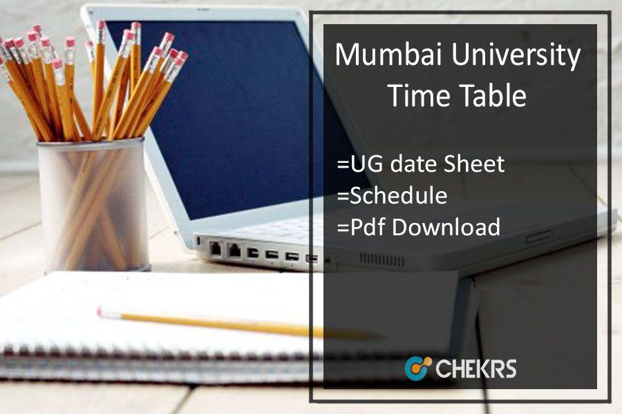 Mumbai University Time Table 2019 - FY-SY-TY BA BSC BCOM