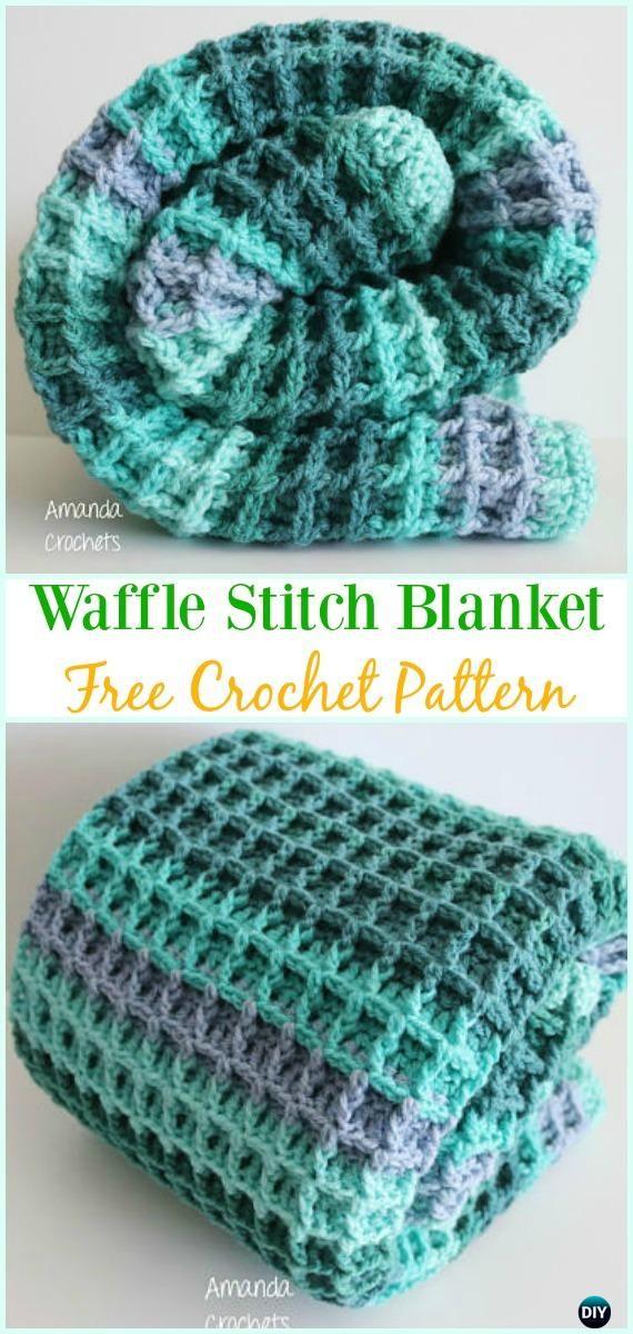 Crochet Waffle Stitch Blanket Free Pattern- Crochet Waffle Stitch ...