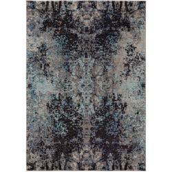 benuta Teppich Casa Anthrazit/Blau 80x150 cm - Vintage Teppich im Used-Look benutabenuta