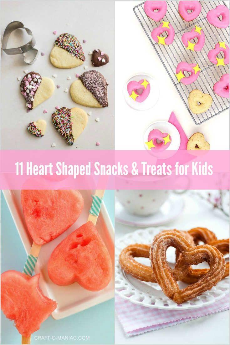 Heart Shaped Snacks for kids