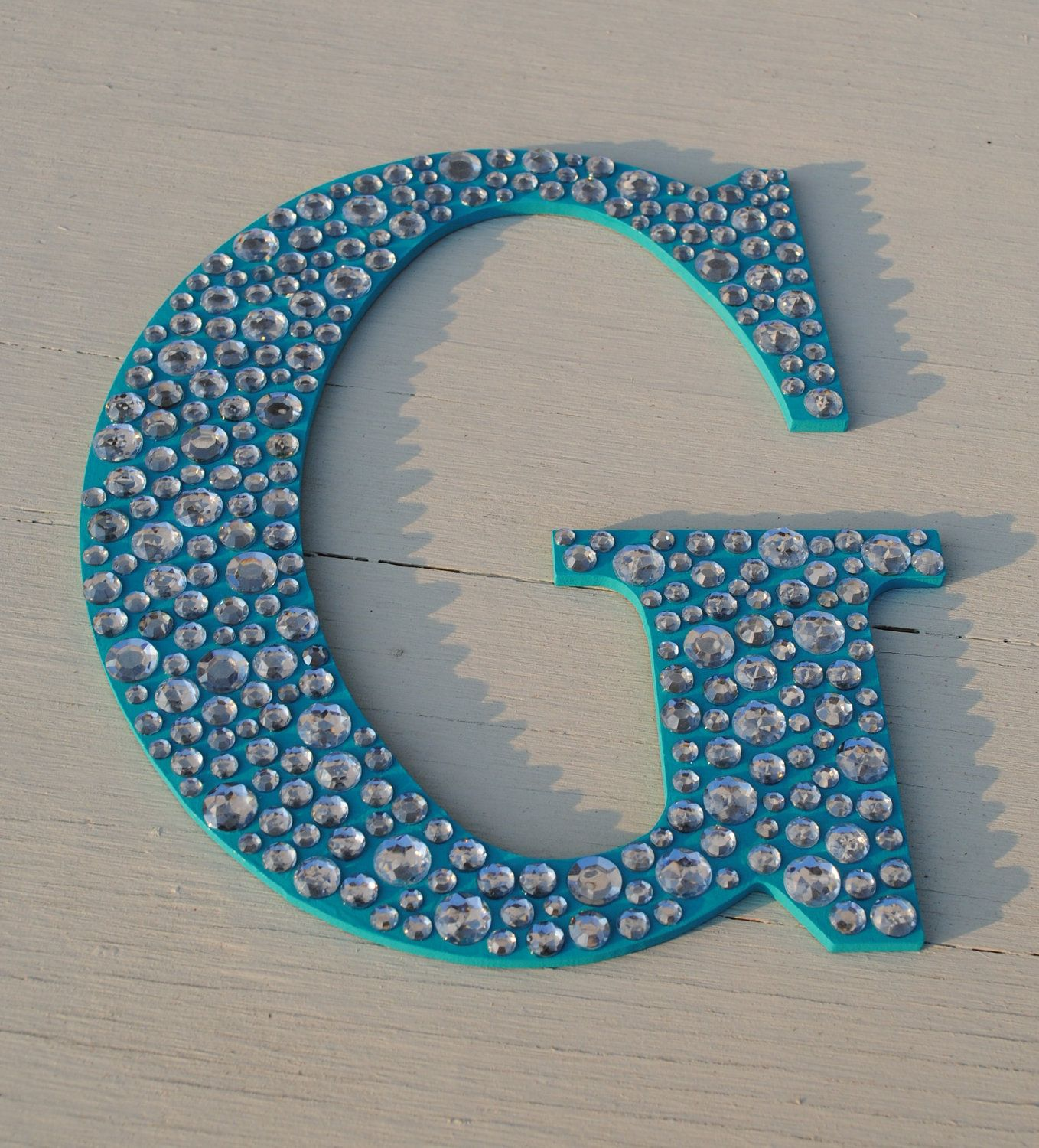 Sparkle Turquoise Bling Decorative Wall Letters (already Have The Blue  R.just Need To Add Bling.