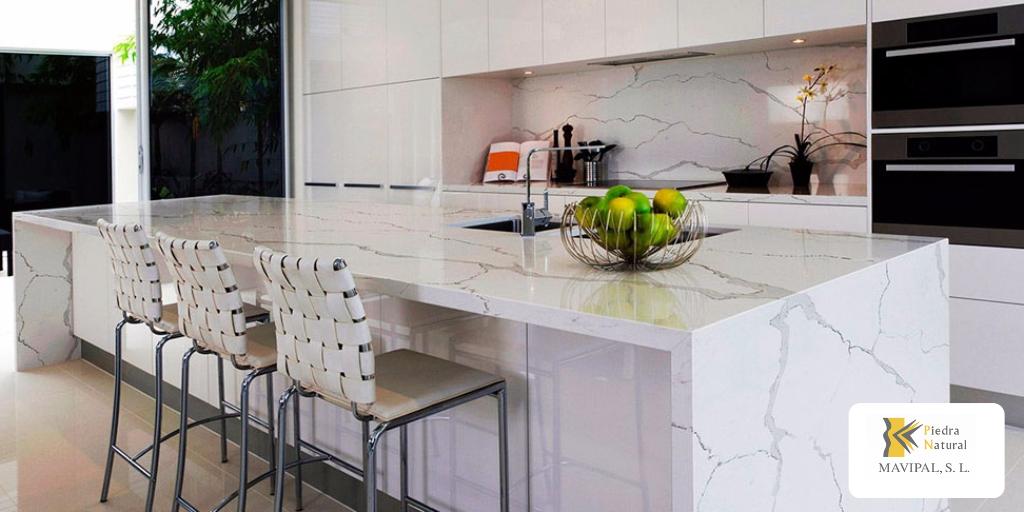 Cocinas con encimeras de piedra natural decoracion - Encimera piedra natural ...