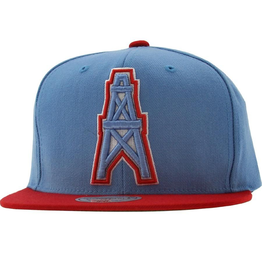01636266d57 ... canada mitchell and ness houston oilers sta3 wool snapback cap in sky  blue and red. ...