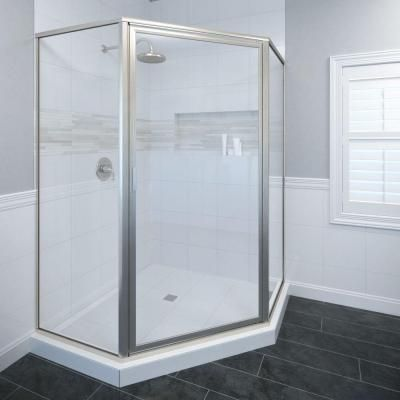 Basco Deluxe 22 5 8 In X 65 1 8 In Framed Neo Angle Hinged