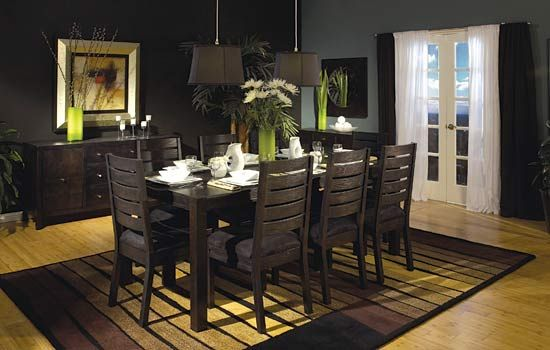 Pictures On Black Walls In Dining Room,   Free Home Designs Photos .