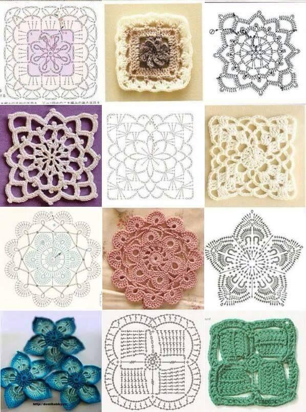grannys y flores | Todo al crochet , en grannys | Pinterest ...