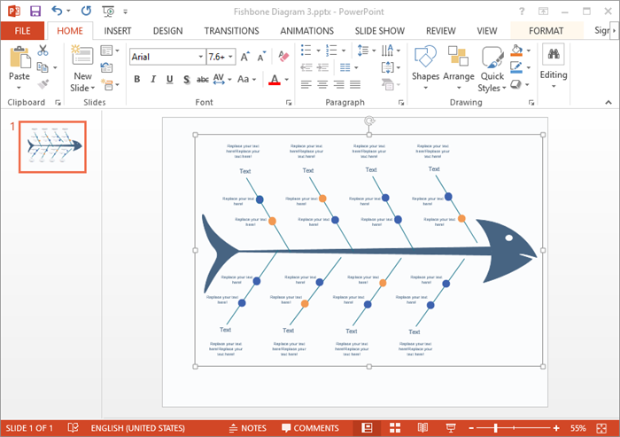 Making fishbone diagrams in microsoft powerpoint is not very create fishbone diagram for ppt ccuart Images