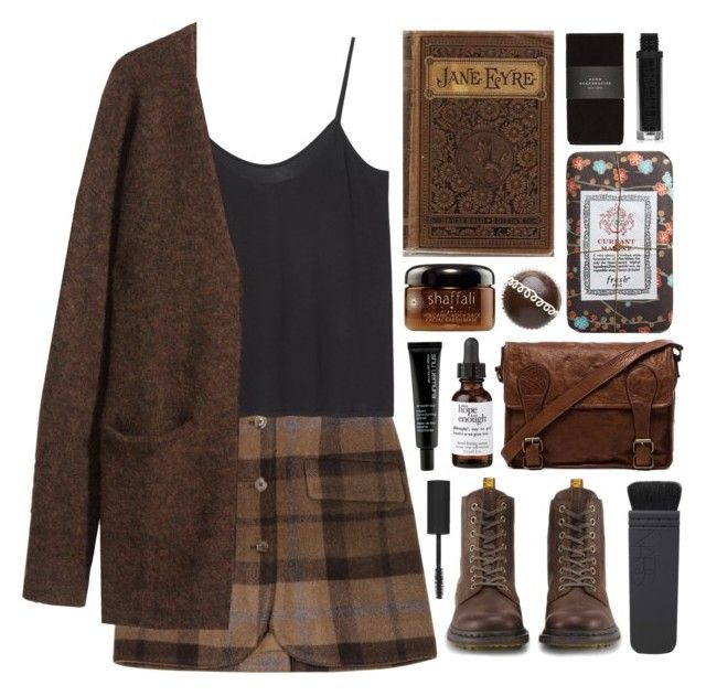 """Jane Eyre"" by ladyvalkyrie ❤ liked on Polyvore featuring Opening Ceremony, Monki, H&M, Dr. Martens, NARS Cosmetics, VIPARO, philosophy, shu uemura, Fresh and Zara"