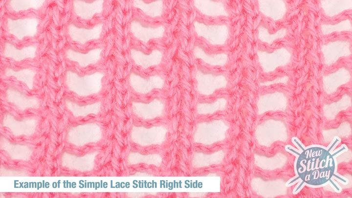EASY Example of the Simple Lace Stitch Right Side