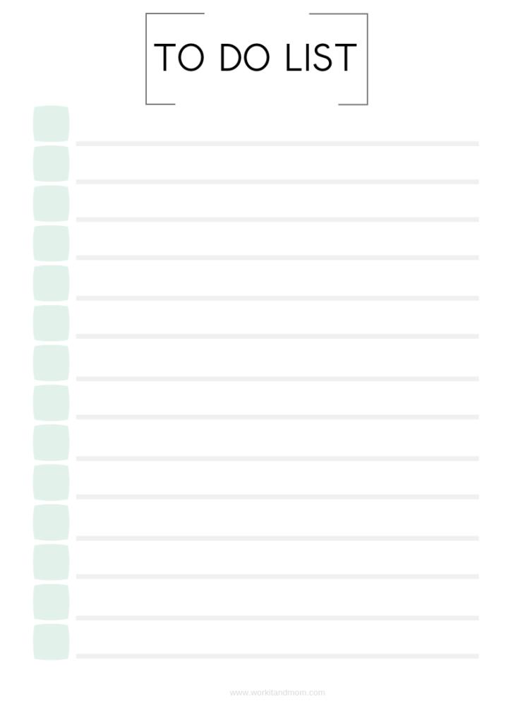 Kostenlos Druckbar To Do Liste Zum Ausdrucken