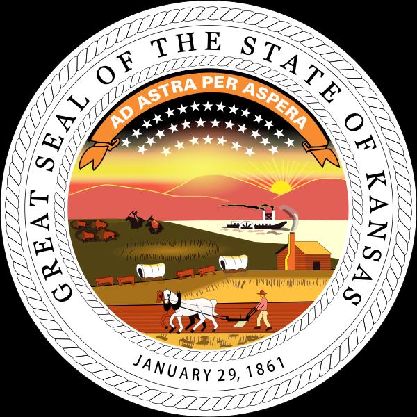 Great Seal Of The State Of Kansas State Of Kansas Kansas State
