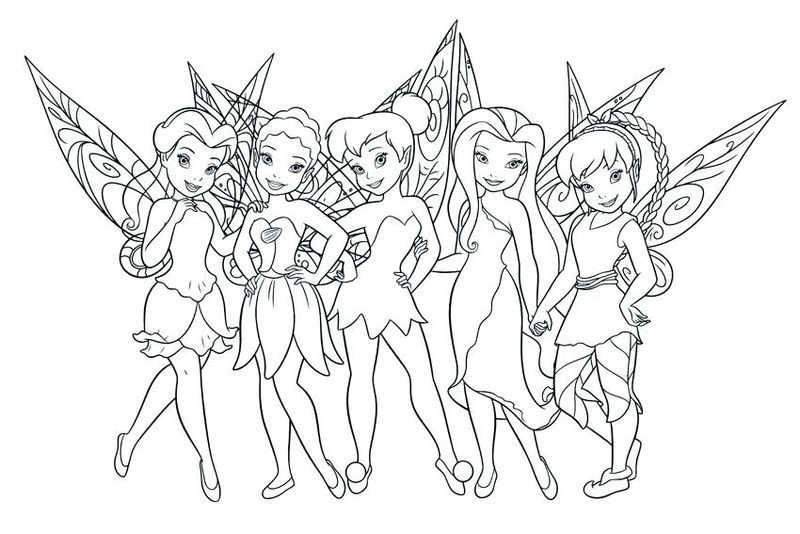 Cute Collection Of Tinkerbell Coloring Pages To Print Fairy Coloring Pages Tinkerbell Coloring Pages Tinkerbell And Friends