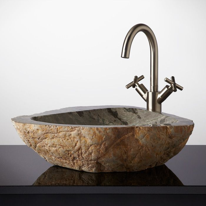 Meelin Cobble Stone Vessel Sink Signature Hardware WINDOW