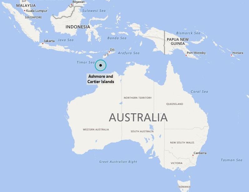 Where is ashmore and cartier islands oceania pinterest cartier is coral sea islands located on the world map find location map of coral sea with facts cities towns and travel information about american samoa gumiabroncs Image collections