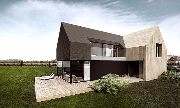 p house by tamizo architects oken r my pinterest haus einfamilienhaus und satteldach. Black Bedroom Furniture Sets. Home Design Ideas