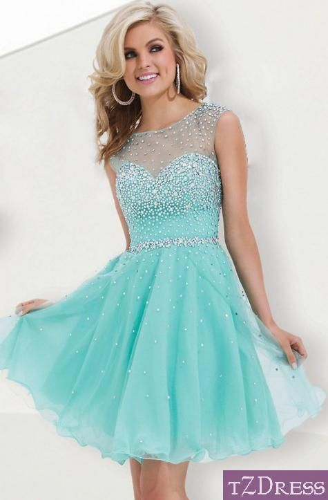 This dress reminds me of Queen Elsa! ALL TIME FAVOURITE (there are other  colours also!) A Line Scoop Short Mini Color Mint As Picture Homecoming  Dresses ... 28dc9622a