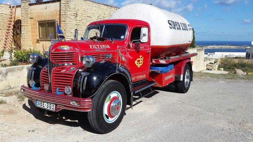 1941 Canadian Dodge T110l Water Tanker Still Working In Malta Big Trucks Dodge Trucks Chrysler Trucks