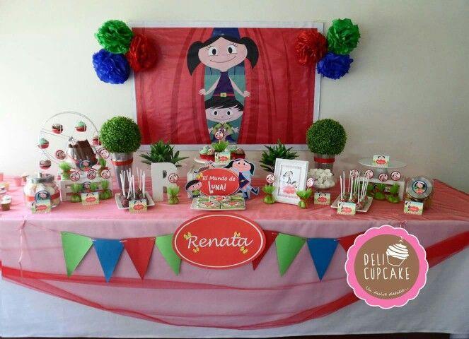 Mesa de dulces de El Mundo de Luna  Cumpleaos n 1