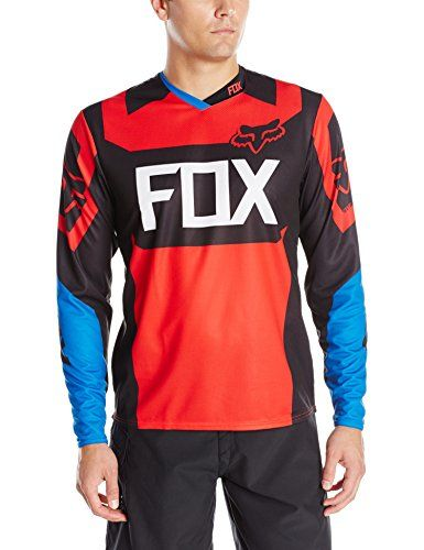 Fox Head Mens Demo Long Sleeve Jersey BlueRed XLarge >>> For more information, visit image link. (Note:Amazon affiliate link)