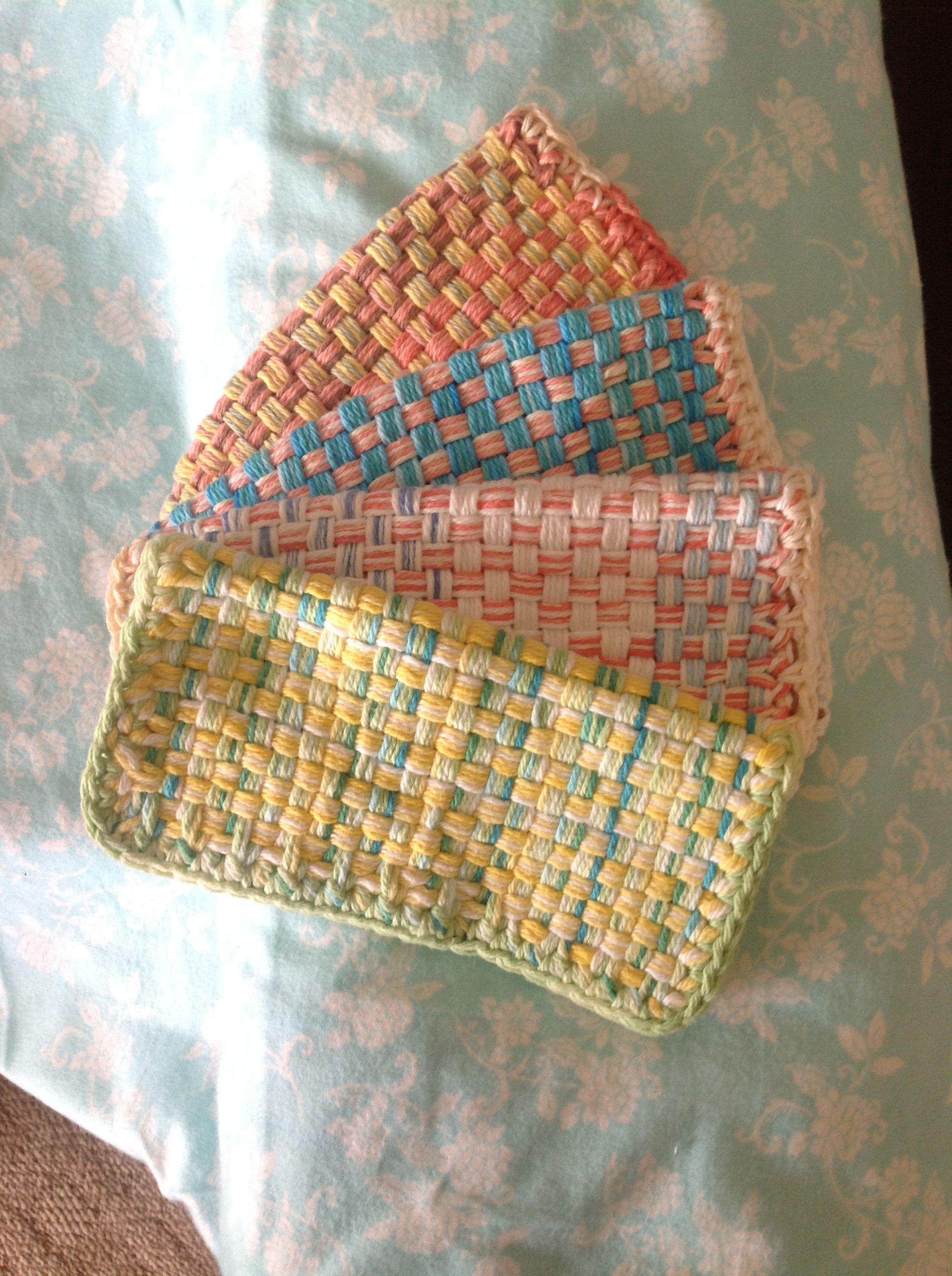 Washcloths made from Martha Stewart loom! | Martha Stewart Loom ...