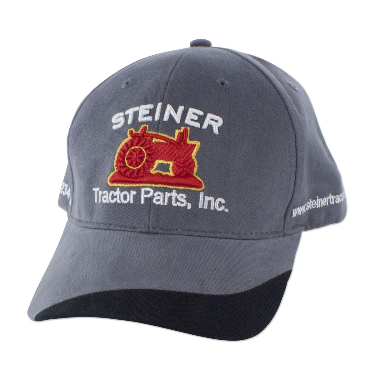 7d12d7b8 Grey Fabric Steiner Tractor Parts Hat | Tractor Collector Hat | Tractor  Restoration Hat | H12