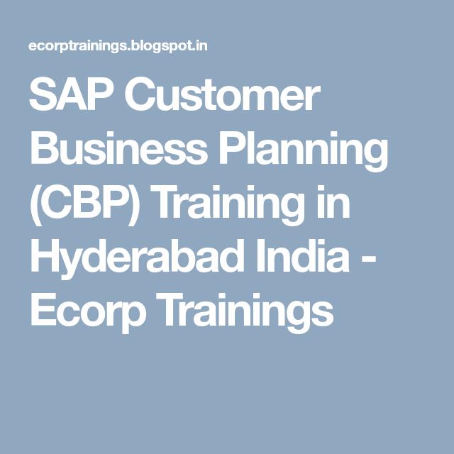 SAP Customer Business Planning (CBP) Training In Hyderabad