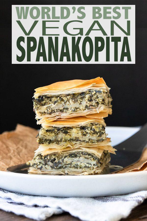 Photo of World's Best Greek Vegan Spanakopita