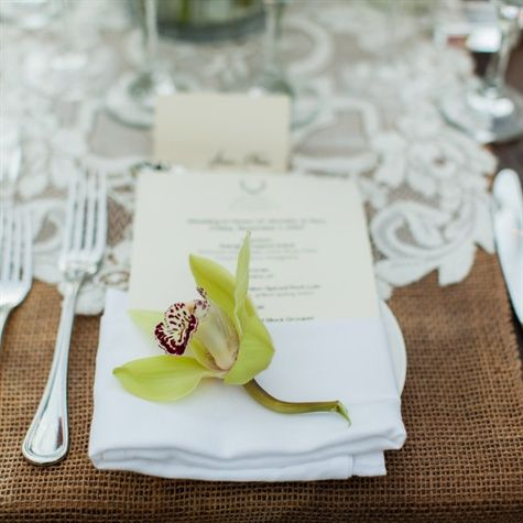 Green Orchid Decor | *Dolce Photography* | Theknot.com