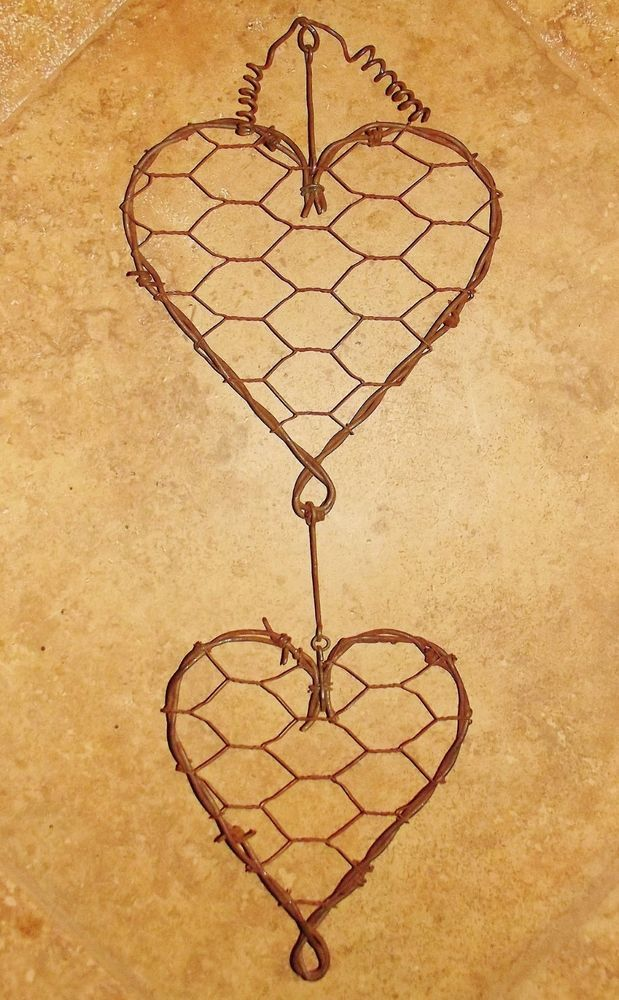 Barbed Wire and Chicken Wire heart Love Valentine rustic wedding ...