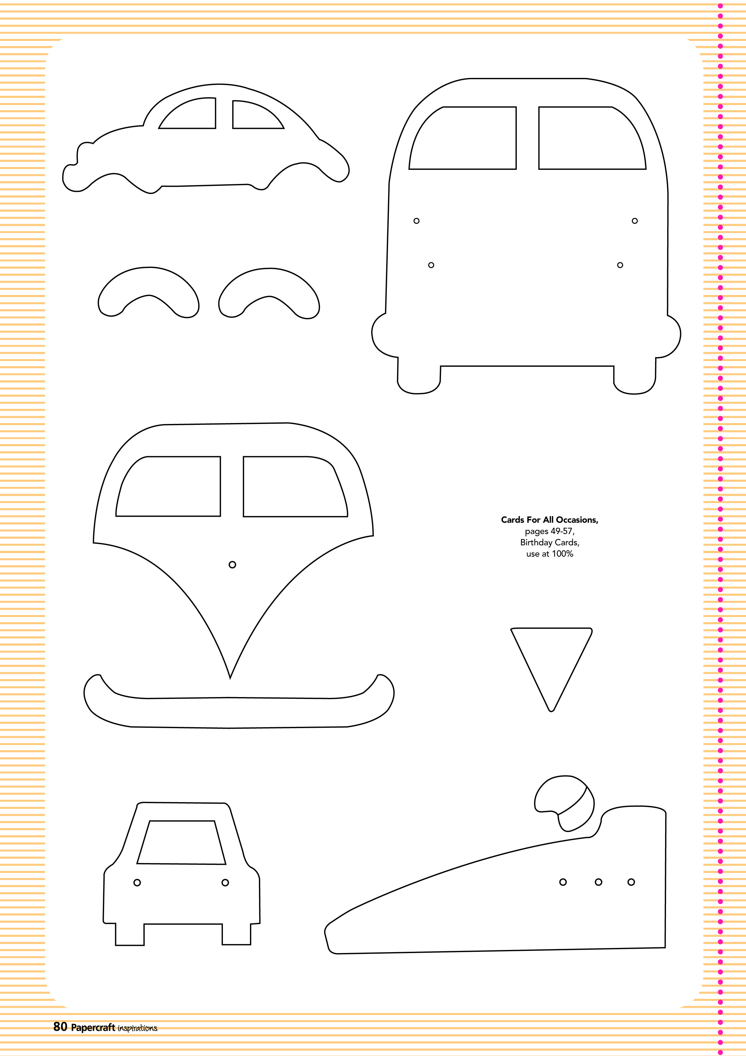 free card making templates from papercraft inspirations 123 volkswagon pinterest. Black Bedroom Furniture Sets. Home Design Ideas
