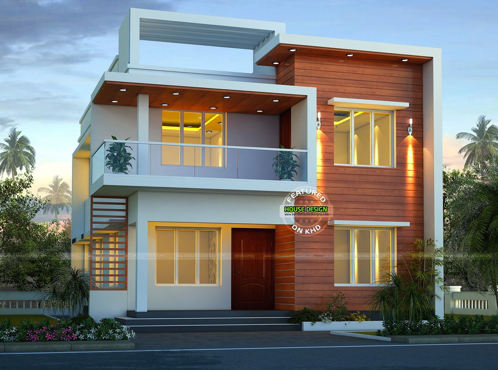 House design double story - This Small Modern Double Storey Home Has Total Area Of 1900 Square Feet Square Meter Square Yards With 4 Bedrooms In Beautiful Modern Look