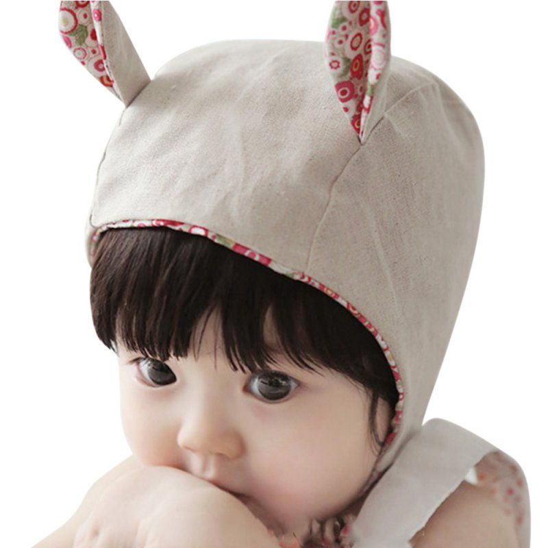 2329bdf44761 Click to Buy    Lovely Princess Caps Cartoon Rabbit Baby Girls Hats With  Ear Cotton Cap For Newborn Baby Girls Hat Fit For 3-8M M2  Affiliate.