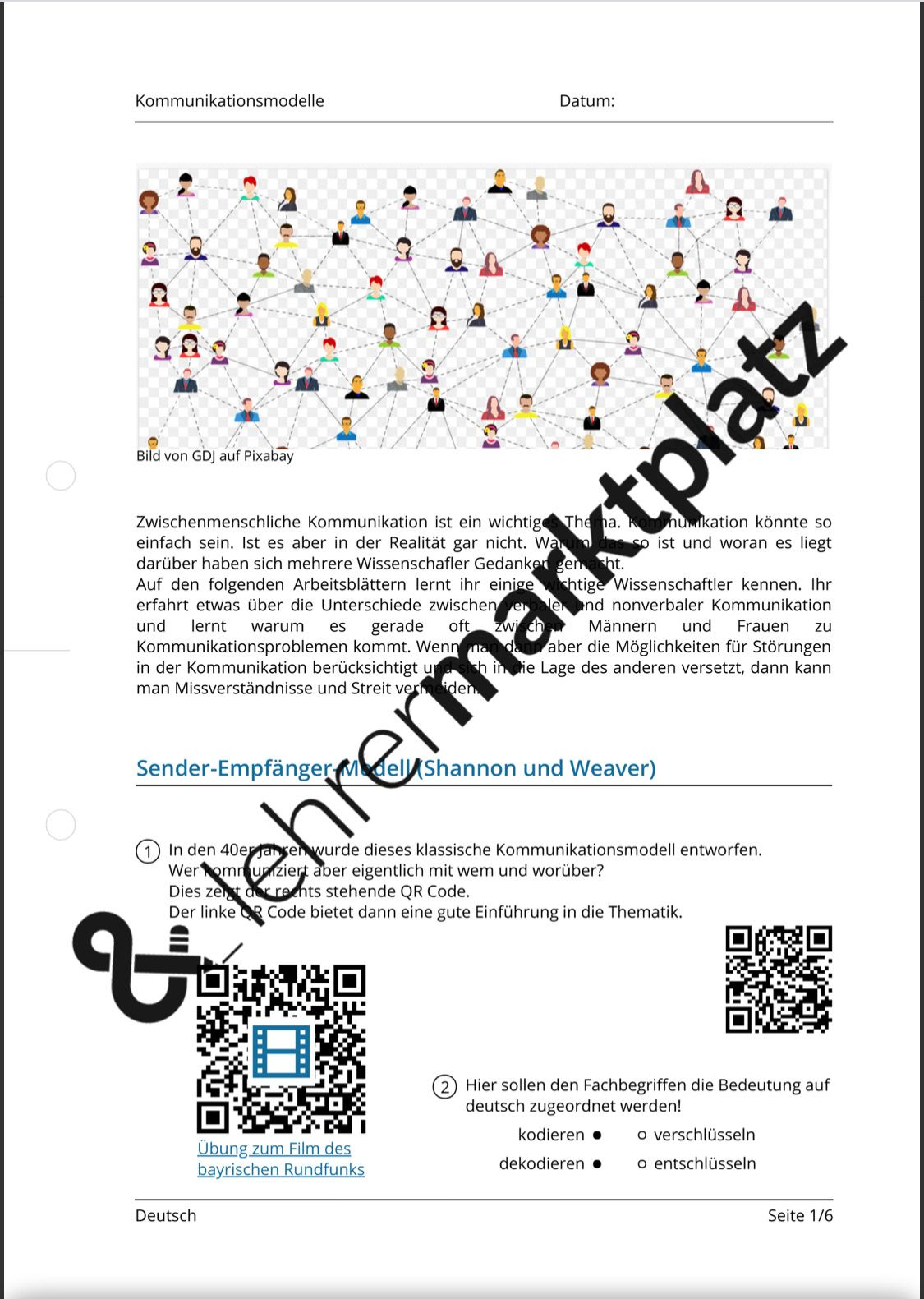 Kommunikationsmodelle Qr Codes In 2020 Kommunikationsmodelle Kommunikation Zwischenmenschliche Kommunikation