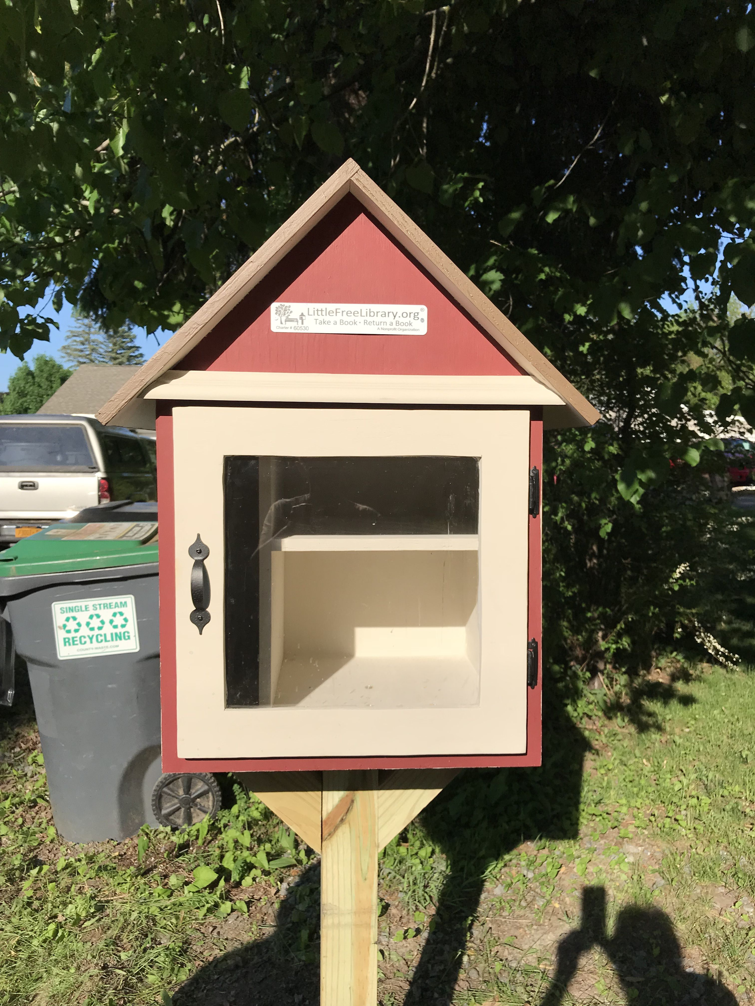 Little Free Library For My Daughter Cemented On 4 By