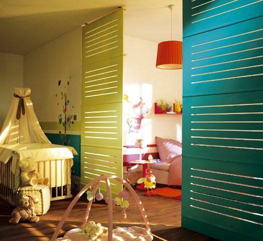 Cloisons ajour es s paration chambre pinterest - Idee separation chambre salon ...