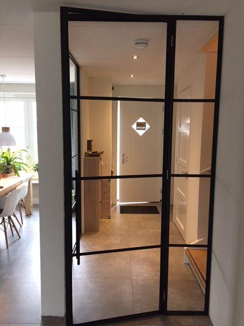 Single steel door with a side light. by doorsvanstaal.com
