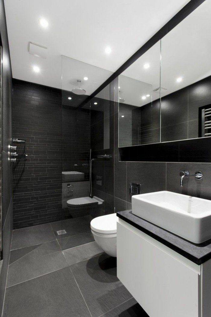 la beaut de la salle de bain noire en 44 images salles de bain noires castorama et de la salle. Black Bedroom Furniture Sets. Home Design Ideas