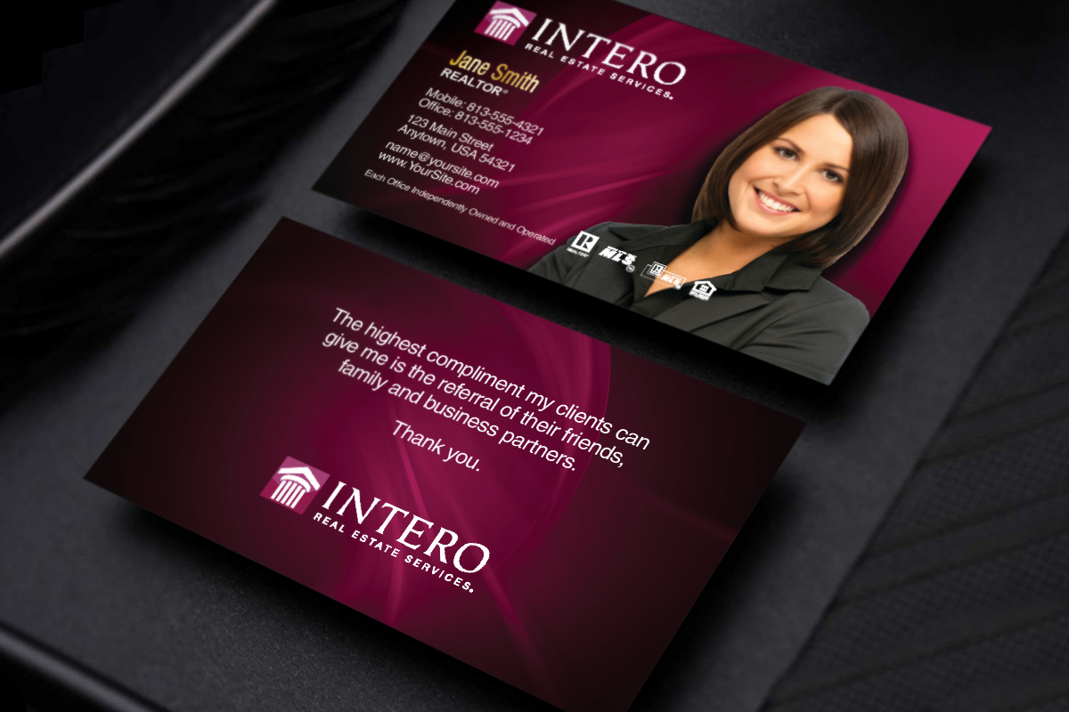 Intero Realtors We Ve Got New Business Cards Just For You Realtor Intero Realesta Special Business Cards Business Cards Online Real Estate Business Cards