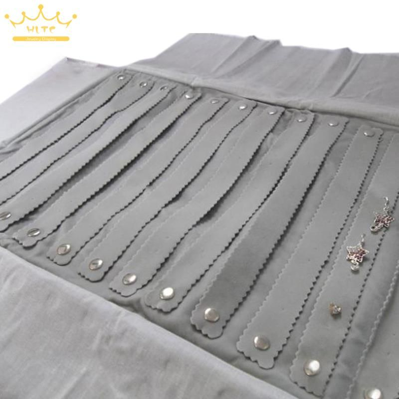 Free Shipping Wholesale Jewelry Roll Bag Black Velvet Jewelry