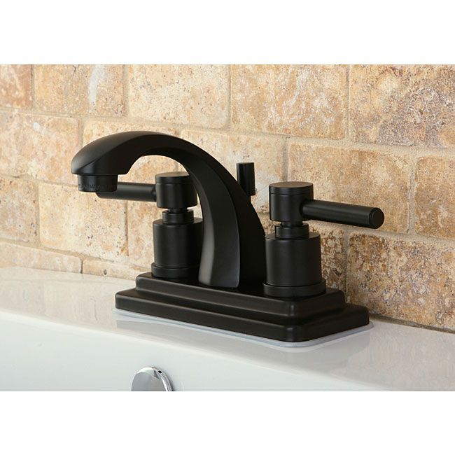Concord 4Inch Oil Rubbed Bronze Bathroom Faucetkingston Brass Prepossessing Oil Rubbed Bronze Bathroom Faucet Design Inspiration