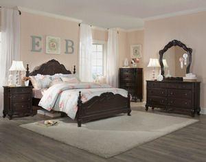 Dark Cherry Girls Bedroom Set