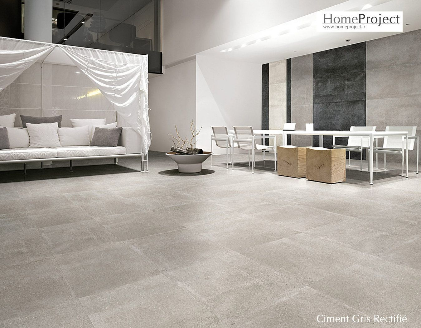Super Carrelage Ciment Gris 60 x 60 cm lappato rectifié | homes  TQ46