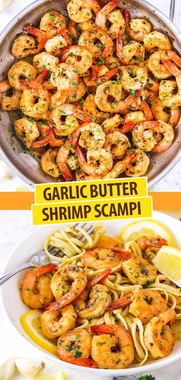 Garlic Butter Shrimp Scampi Recipe - Easy Dinner Idea!